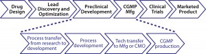 Figure 1: Life cycle of drug-product development