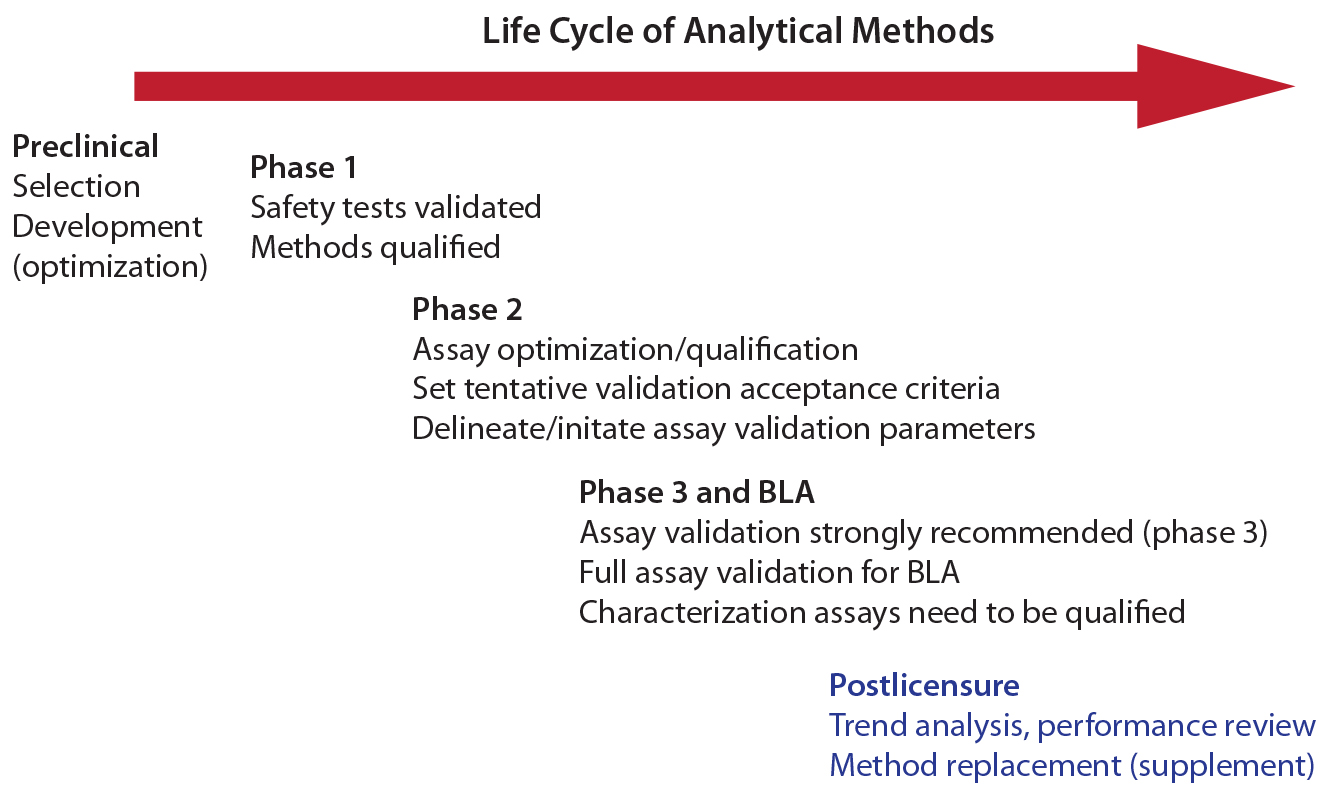 bridging analytical methods for release and stability testing figure 1 life cycle of analytical methods permission from laurie graham