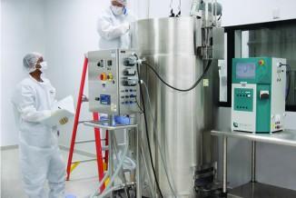 2,000-L stainless steel bioreactor