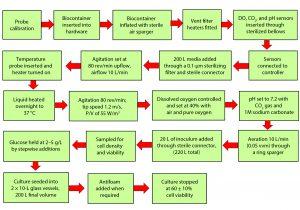 Figure 3: Procedures for cell culture in Pall Allegro STR 200 bioreactor