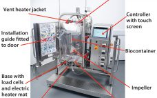Figure 2A: Pall Allegro STR 200 bioreactor components