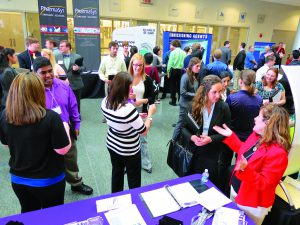 Students network and participate in group activities at the 2014 BTEC ISPE career fair. www.btec.ncsu.edu)